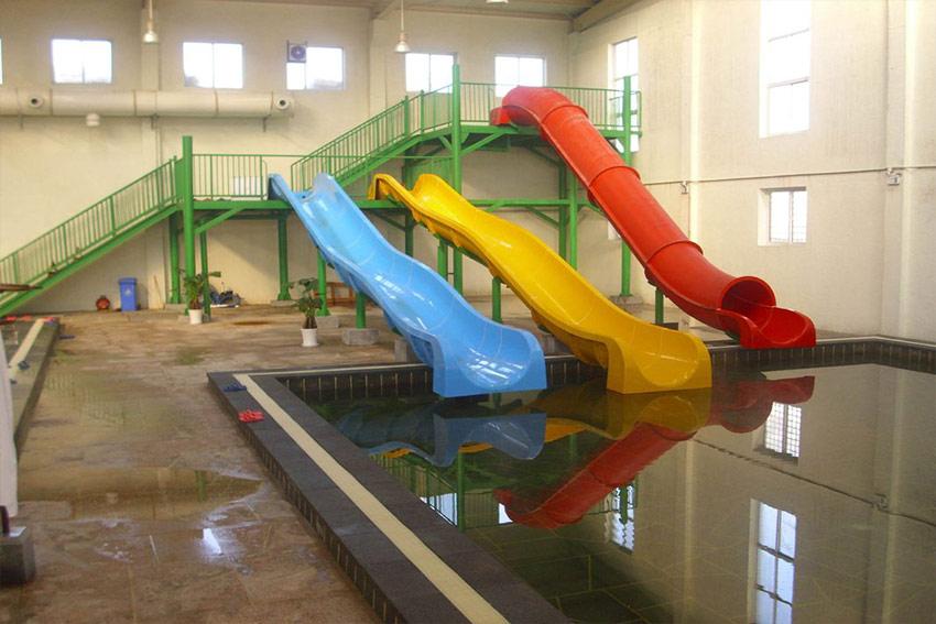 Indoor Fiberglass Kids Water Slides Water Park Design