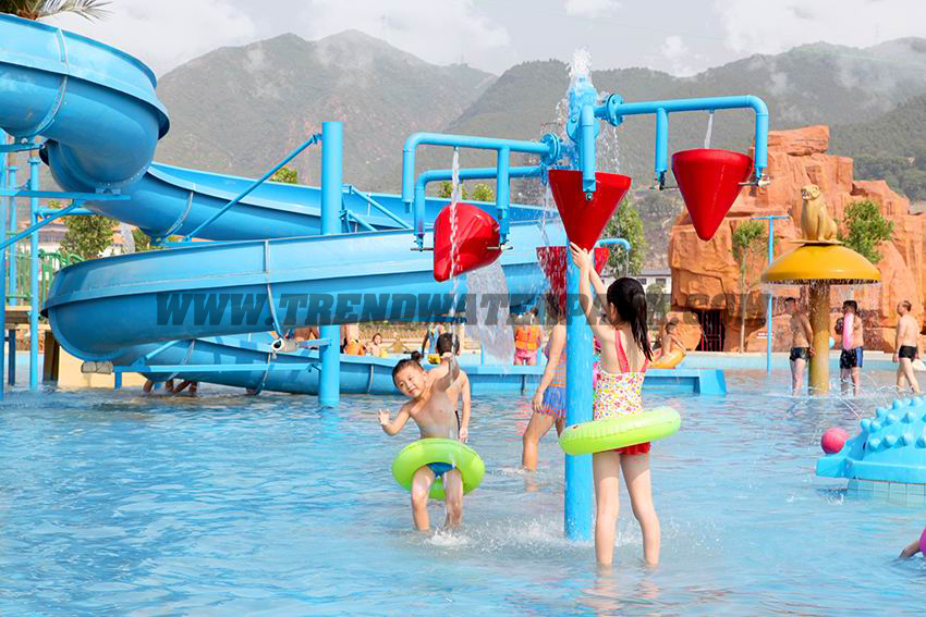 customized spiral fiberglass water slide games for resorts