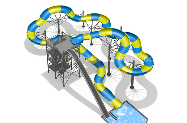 Family Rafting Water Slide - HT-44 - Guangzhou Trend